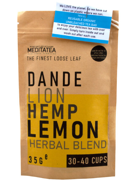 Meditatea Dandelion Hemp Lemon Loose Leaf Tea 35g